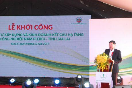 TGĐ Huỳnh Văn Bảo phát biểu tại lễ khởi công