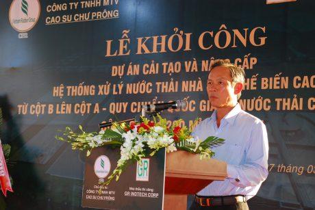 Chủ tịch HĐQT VRG Trần Ngọc Thuận phát biểu tại lễ khởi công
