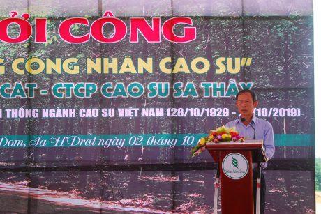 Chủ tịch VRG Trần Ngọc Thuận phát biểu tại lễ khởi công