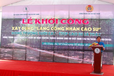 Chủ tịch Công đoàn CSVN Phan Mạnh Hùng tại lễ khởi công