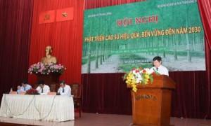 TGĐ VRG Huỳnh Văn Bảo phát biểu tại hội nghị