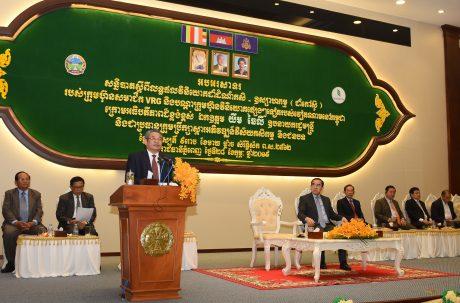 Phó Thủ tướng, Chủ tịch Hội đồng Khôi phục và Phát triển nông nghiệp nông thôn Campuchia Yim Chhayly đánh giá cao sự đóng góp của VRG cho kinh tế Campuchia