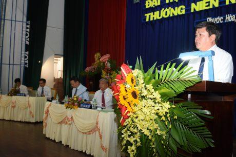 Ông Nguyễn Văn Tược - TGĐ công ty báo cáo các kết quả SXKD 2018