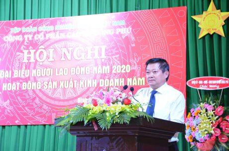 Ông Huỳnh Văn Bảo - TGĐ VRG phát biểu tại hội nghị