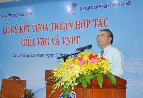 Ông Trần Mạnh Hùng, Chủ tịch HĐTV Tập đoàn VNPT phát biểu tại buổi lễ