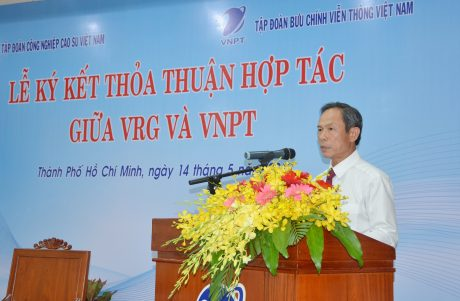 Ông Trần Ngọc Thuận – Chủ tịch HĐQT VRG phát biểu tại buổi lễ