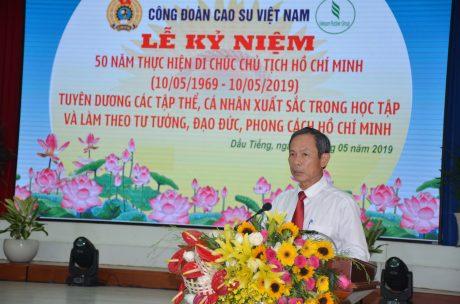 ông Trần Ngọc Thuận - Bí thư Đảng ủy, Chủ tịch HĐQT VRG phát biểu tại buổi lễ