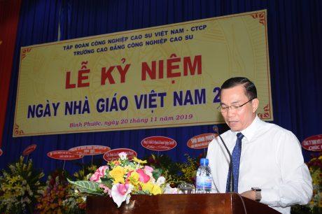 Ông Lê Thanh Tú - Phó TGĐ VRG phát biểu tại buổi lễ