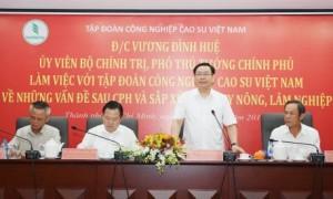 Phó Thủ tướng Chính phủ Vương Đình Huệ phát biểu tại buổi làm việc