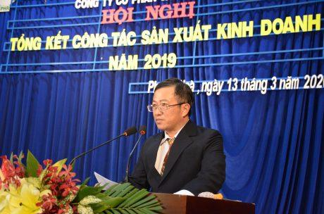 Ông Huỳnh Kim Nhựt – Chủ tịch HĐQT Cao su Phước Hòa phát biểu khai mạc hội nghị