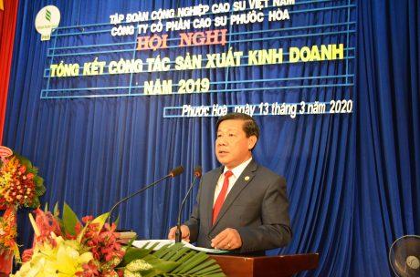 Ông Trần Thanh Liêm – Phó Bí thư tỉnh ủy, Chủ tịch UBND tỉnh Bình Dương phát biểu tại hội nghị