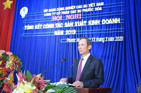 Ông Trần Ngọc Thuận – Chủ tịch HĐQT VRG phát biểu tại hội nghị
