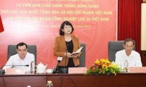 Phó Chủ tịch nước Đặng Thị Ngọc Thịnh phát biểu chỉ đạo tại buổi làm việc