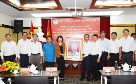Phó Chủ tịch nước Đặng Thị Ngọc Thịnh tặng quà lưu niệm cho VRG
