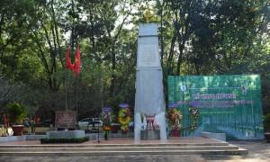 Khu di tích tượng đài Phú Riềng Đỏ. Ảnh: Vũ Phong.