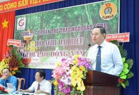 Phó TGĐ VRG Trương MInh Trung phát biểu tại Hội nghị
