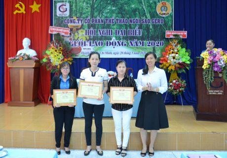 Các cá nhân được Công đoàn CSVN khen thưởng thành tích thi đua 3 tháng nước rút cuối năm