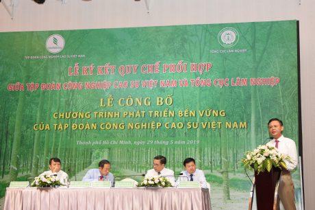 Ông Hà Công Tuấn – Thứ trưởng thường trực Bộ NN&PTNT đánh giá cao chiến lược phát triển bền vững của VRG