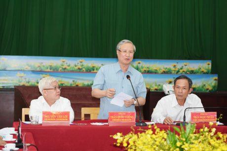 Ủy viên Bộ Chính trị, Thường trực Ban Bí thư Trần Quốc Vượng  phát biểu chỉ đạo