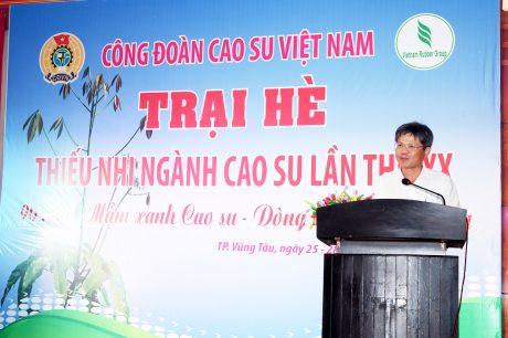 Trần Công Kha – Phó Bí thư Đảng ủy, Phó TGĐ VRG phát biểu tại lễ khai mạc