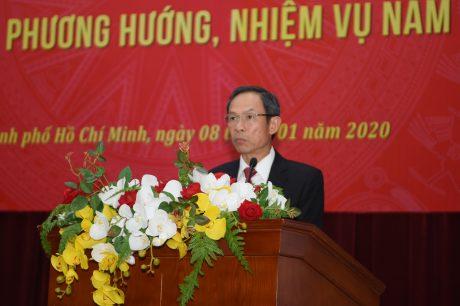 Ông Trần Ngọc Thuận – Bí thư Đảng ủy, Chủ tịch HĐQT VRG phát biểu tại hội nghị