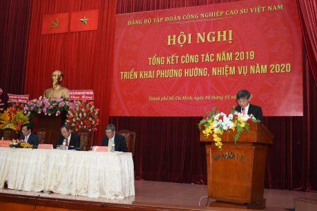 Đ/c Trần Công Kha – Phó Bí thư Đảng ủy VRG triển khai hướng dẫn công tác tổ chức đại hội Đảng các cấp tiến tới đại hội đại biểu Đảng bộ VRG lần thứ IX, nhiệm kỳ 2020 – 2025