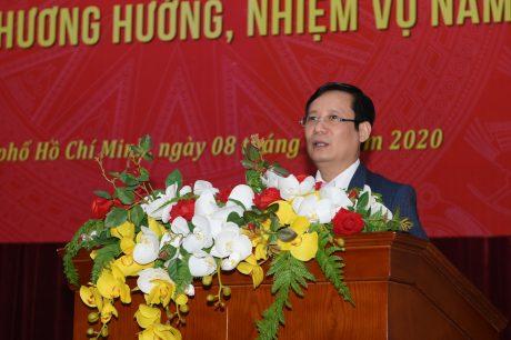 Đ/c Phạm Tấn Công – Phó Bí thư Thường trực Đảng ủy Khối DNTW đánh giá cao những kết quả đạt được của VRG
