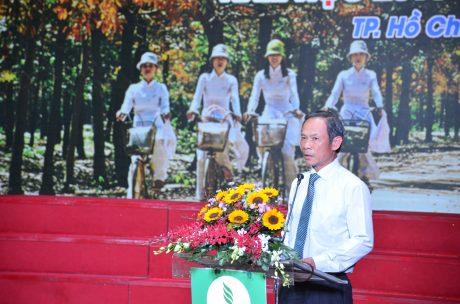 Ông Trần Ngọc Thuận - Chủ tịch HĐQT VRG phát biểu tại Lễ tuyên dương