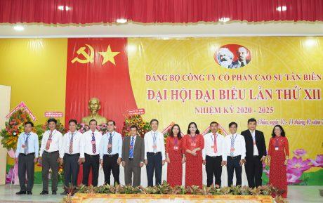 Ra mắt đoàn đại biểu dự Đại hội Đảng bộ huyện Tân Châu