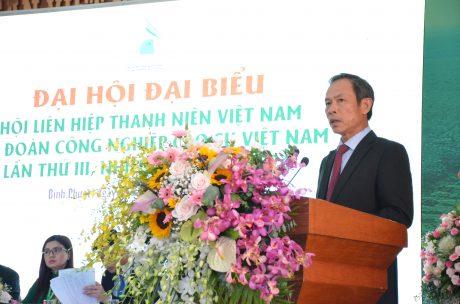 Đồng chí Trần Ngọc Thuận - Bí thư đảng ủy, Chủ tịch HĐQT VRG phát biểu tại đại hội