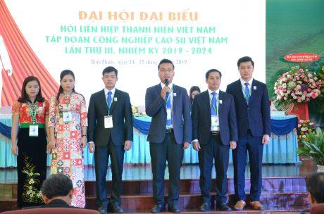 Đoàn đại biểu dự đại hội Hội LHTN Việt Nam