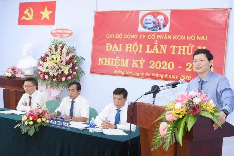 Đồng chí Hà Văn Khương – Uỷ viên BTV Đảng ủy – TV HĐQT VRG phát biểu tại  đại hội