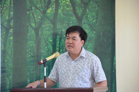 Ông Lê Văn Thắng - Phó Ban Tuyên giáo Thi đua VRG phát biểu tại hội nghị