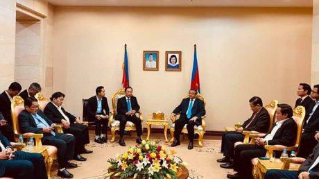 Quang cảnh buổi làm việc với Phó Thủ tướng Campuchia.