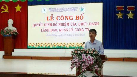 Ông Trần Đức Thuận - Thành viên Hội đồng Quản trị kiêm trưởng ban Tổ chức Nhân sự VRG phát biểu tại buổi lễ