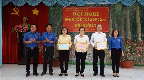 Đoàn Thanh niên các đơn vị trao danh sách Đoàn viên ưu tú để Cấp ủy Đảng phát triển.