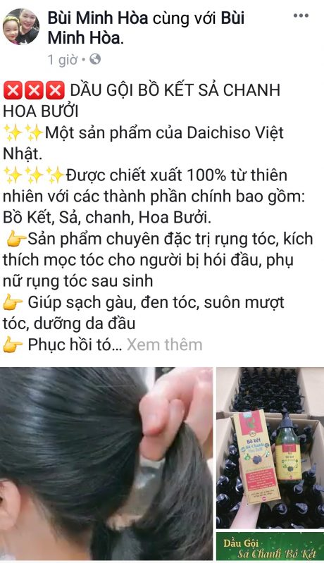 Chị Minh Hòa bán đầy đủ các mặt hàng mỹ phẩm, gia dụng…