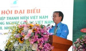Anh Nguyễn Quang Thông - Phó Chủ tịch Hội LHTN VN, Tổng Biên tập Báo Thanh niên phát biểu tại Đại hội Hội LHTN VN VRG nhiệm kỳ 2019 – 2024.