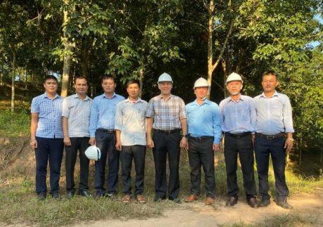 Lãnh đạo VRG và công ty trên vườn cây.