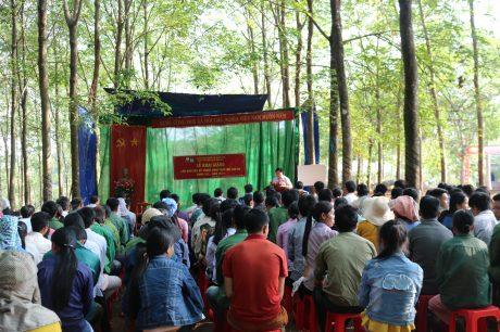 Quang cảnh khai giảng tại NT Tân Hưng.
