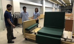 Một doanh nghiệp sản xuất giường y tế đang hoạt động tại KCN Nam Tân Uyên.