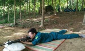 Các chiến sĩ tham gia tập luyện