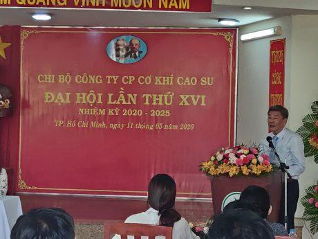 Đ/c Nguyễn Tiến Đức – Phó Bí thư thường trực Đảng ủy, Phó TGĐ VRG phát biểu chỉ đạo đại hội