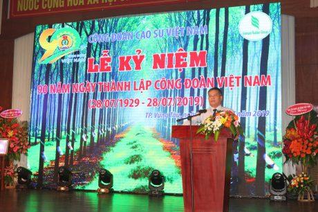 Ông Võ Sỹ Lực - nguyên Chủ tịch HĐTV VRG phát biểu tại Lễ kỷ niệm