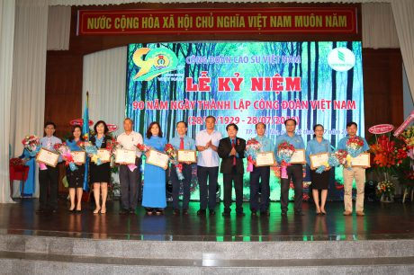 Các cá nhân nhận Kỷ niệm chương Công đoàn Việt Nam