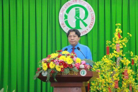 ông Phan Mạnh Hùng – UV BCH Tổng LĐLĐ VN, Chủ tịch Công đoàn CSVN phát biểu tại buổi lễ