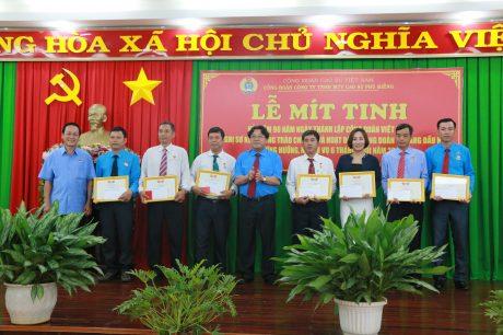 Các cá nhân được trao tặng kỉ niệm chương Vì sự nghiệp xây dựng tổ chức Công đoàn VN