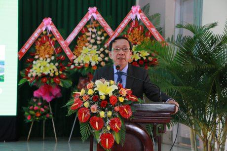 Ông Nguyễn Văn Thanh - Bí thư Đảng ủy, TGĐ Cao su Bình Thuận phát biểu tại buổi họp mặt