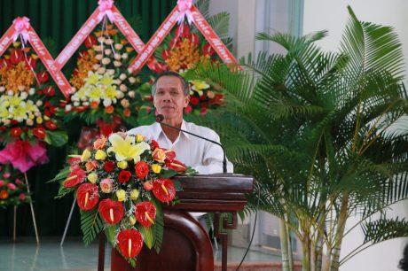 Ông Bùi Ngọc Quang - Nguyên Chủ tịch HĐTV Cao su Bình Thuận phát biểu tại buổi họp mặt