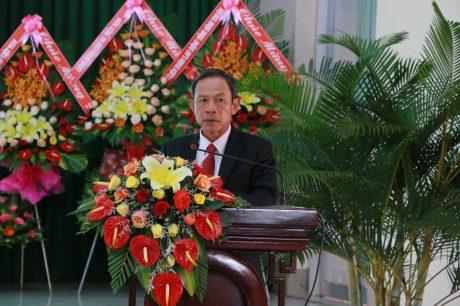 ông Trần Ngọc Thuận – Bí thư Đảng ủy, Chủ tịch HĐQT VRG phát biểu tại buổi họp mặt